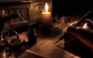 Свеча на столе в древности